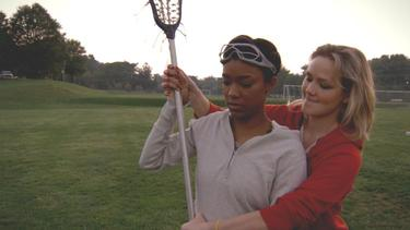 Sonequa Martin and Louisa Krause in &quot;Toe to Toe.&quot;